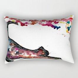 Rainbow Space Cat Rectangular Pillow