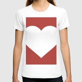 Heart (White & Maroon) T-shirt