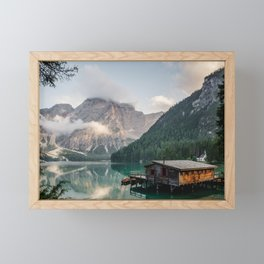 Mountain Lake Cabin Retreat Framed Mini Art Print