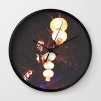 lanterns Wall Clocks featuring Lanterns by Kaartik Gupta