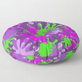 Slime in Green & Pink on Purples Floor Pillow