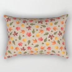 Autumn Leaves Pattern Beige Background Rectangular Pillow