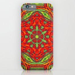Vibrant Christmas Stars Kaleidoscopes iPhone Case