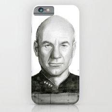 Captain Picard Watercolor Portrait iPhone 6s Slim Case