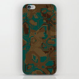 Peacock and Brown iPhone Skin