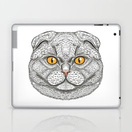 Scottish Fold cat Laptop & iPad Skin
