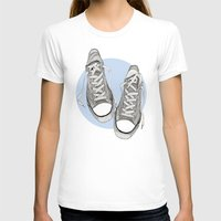 converse T-shirts featuring Converse by maeveelectro