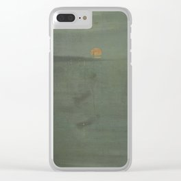 James Abbott McNeill Whistler - Nocturne Blue and Gold: Southampton Water Clear iPhone Case
