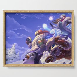 Snow Day Gnar Syndra Bard League of Legends Serving Tray