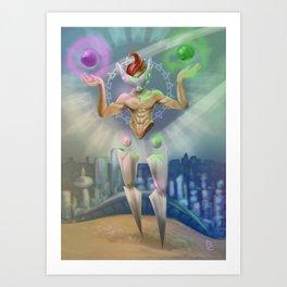 Libra - Zodiac King Art Print
