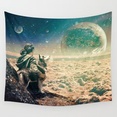 Watching Closely Wall Tapestry