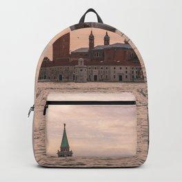 Venice Italy Sunset Photography, Pink Venice, Travel Italy Wall Art, Italian Home Decor Backpack
