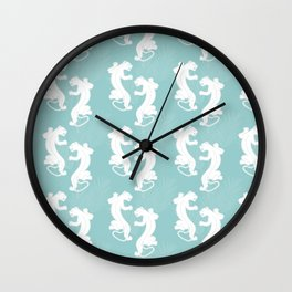 White Panther Wall Clock