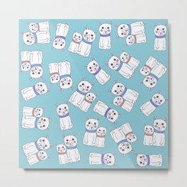 Cute Girly Christmas Holiday Polar Bears Metal Print