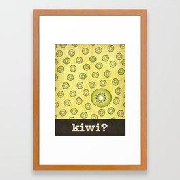 kiwi? Framed Art Print