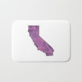 California Watercolor Bath Mat