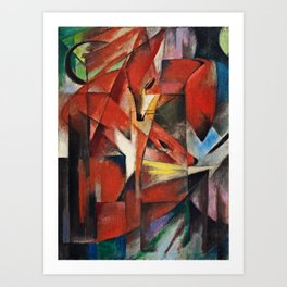 Franz Marc  -  The Foxes Art Print