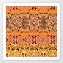 Golden Haze Bandana Art Print