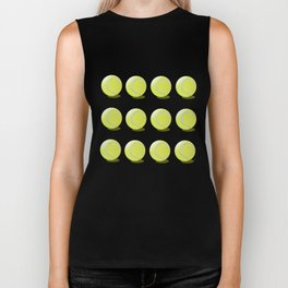 Tennis Ball Pattern Biker Tank