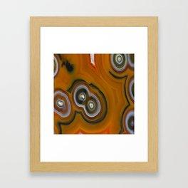 Condor Eye Agate Framed Art Print