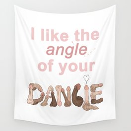 Angle of your Dangle Wall Tapestry