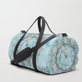 Clock Christmas mandala Duffle Bag