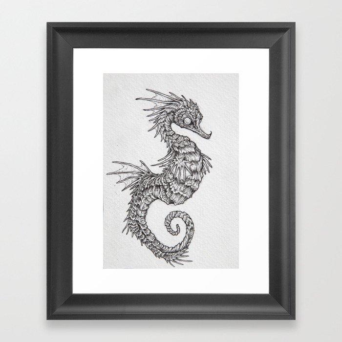 seahorse Framed Art Print