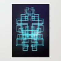 80s Canvas Prints featuring 80s style by Six Pixel Design