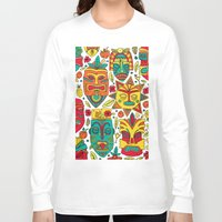 tiki Long Sleeve T-shirts featuring Tiki tiki by Binnyboo