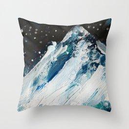 Blue Peak Throw Pillow