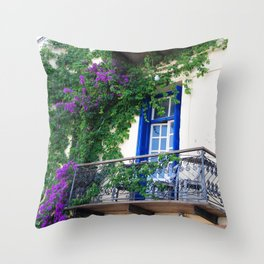 Chania Old Town View Throw Pillow