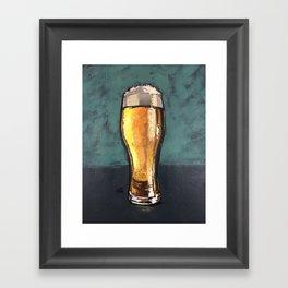 Glass of Beer Framed Art Print