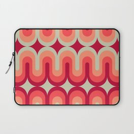 70s Geometric Design - Pink and Red Swoops Laptop Sleeve