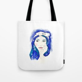 Blue Hair Don't Care Tote Bag