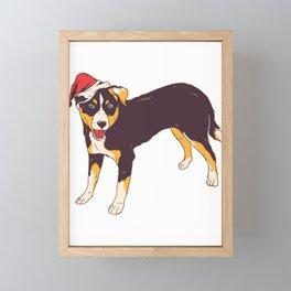 Dog Christmas Framed Mini Art Print