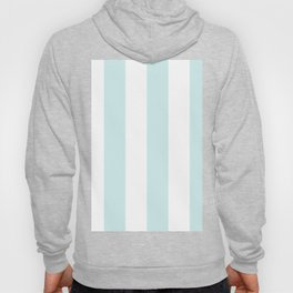 Wide Vertical Stripes - White and Light Cyan Hoody