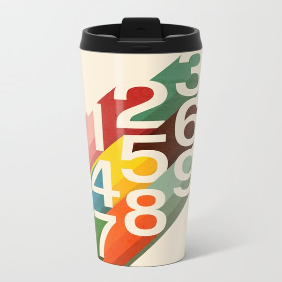 Retro Numbers Metal Travel Mug