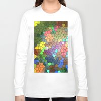 stained glass Long Sleeve T-shirts featuring Stained Glass by Inspired By Fashion