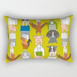 farm pop yellow Rectangular Pillow