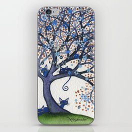 Oregon Whimsical Cats in Tree iPhone Skin