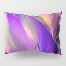 """Ultraviolet leaves and hexagonal golden grid"" Pillow Sham"