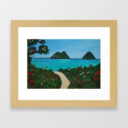 Mana'o Makai  Framed Art Print