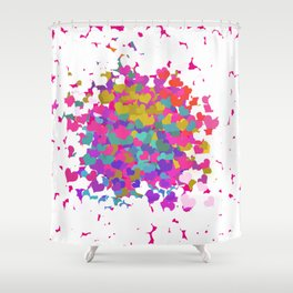 Heart leaf colorful Shower Curtain