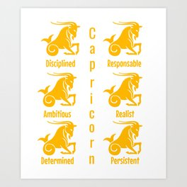 Sign capricorn Art Print