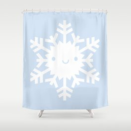 Kawaii Snowflake Shower Curtain