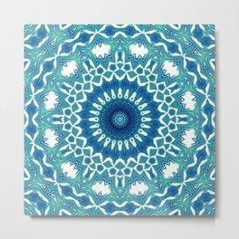 Sea Green Mandala Metal Print
