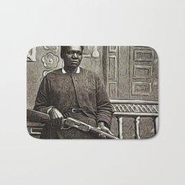 African American Portrait Shotgun 'Mary Wells' by Jeanpaul Ferro Bath Mat