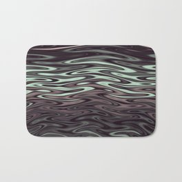 Ripples Fractal in Mint Hot Chocolate Bath Mat