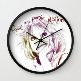 Crearé mi propio destino Wall Clock
