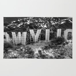 Behind the Hollywood Sign - © Doc Braham; All Rights Reserved. Rug